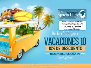 Vacaciones 10 hasta 30 Junio