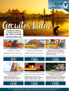 Circuitos India desde Agosto 2016 hasta Abril 2017