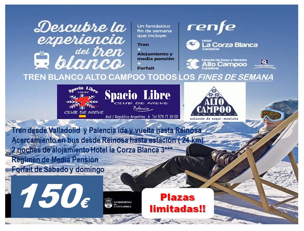 TREN BLANCO ALTO CAMPOO TODOS LOS FINES DE SEMANA